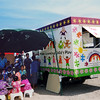 Children and teachers by the Save the Children Mobile Playgroup Van, Fiji. Credit: New Zealand Ministry of Foreign Affairs and Trade