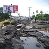 The road into Nadi Town from Namotomoto, Fiji, following flooding. Credit: New Zealand Ministry of Foreign Affairs and Trade