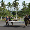 Offloading emergency supplies at Vanua Levu, Fiji after Cyclone Tomas, 2010. Credit: NZDF