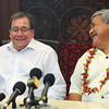 Foreign Minister Murray McCully meets with Samoan Prime Minister Tuilaepa, during his Pacific Mission 2010 visit, Samoa. Credit:NZPA / Ross Setford