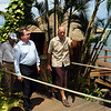 Foreign Minister Murray McCully, left, checks out the rebuild of the Sinalei Reef Resort following the tsunami during his Pacific Mission 2010, Samoa. Credit:NZPA / Ross Setford
