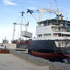 A ship at the new wharf in Buka, Papua New Guinea. Credit: New Zealand Ministry of Foreign Affairs and Trade