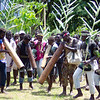 Local people playing traditional wind instruments and singing in Hahon district, Papua New Guinea. Credit: New Zealand Ministry of Foreign Affairs and Trade