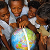 Students in Solomon Islands receive equipment from New Zealand, including this globe. Credit: New Zealand Ministry of Foreign Affairs and Trade