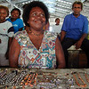Woman selling jewellery at a market, Solomon Islands. Credit: New Zealand Ministry of Foreign Affairs and Trade