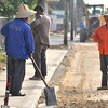 Roadworks in Tonga. Credit Pedram Pirnia