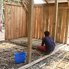 Reinforcing the concretefloor with bamboo during the building of the soap factory. Funded by the NZAID KOHA fund. Building a soap factory. Credit: Palm Project and NZCHET (New Zealand Children's Health Education Trust)