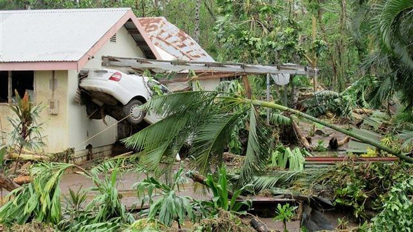 Damage caused by Cyclone Evan in Apia, Samoa, Dec 2012. Credit New Zealand Ministry of Foreign Affairs and Trade