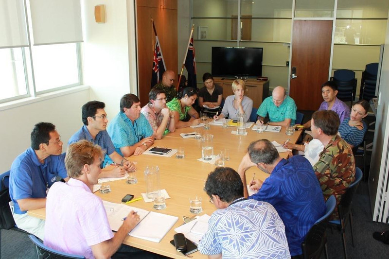 DP meeting to make plans around Cyclone Evan at the High Commission in Apia. Credit New Zealand Ministry of Foreign Affairs and Trade