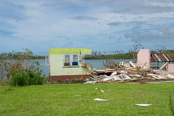Damage caused by Cyclone Evan in South West Upolu, Samoa, Dec 2012. Credit New Zealand Ministry of Foreign Affairs and Trade