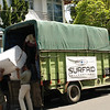 SurfAid convoy with supplies following the Oct 2009 earthquake, Indonesia. Credit: SurfAid