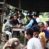 SurfAid team in Agam with community members after the Oct 2009 Earthquake, Indonesia. Credit: SurfAid