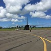 C-130 relief flight at Nausori (2 March)