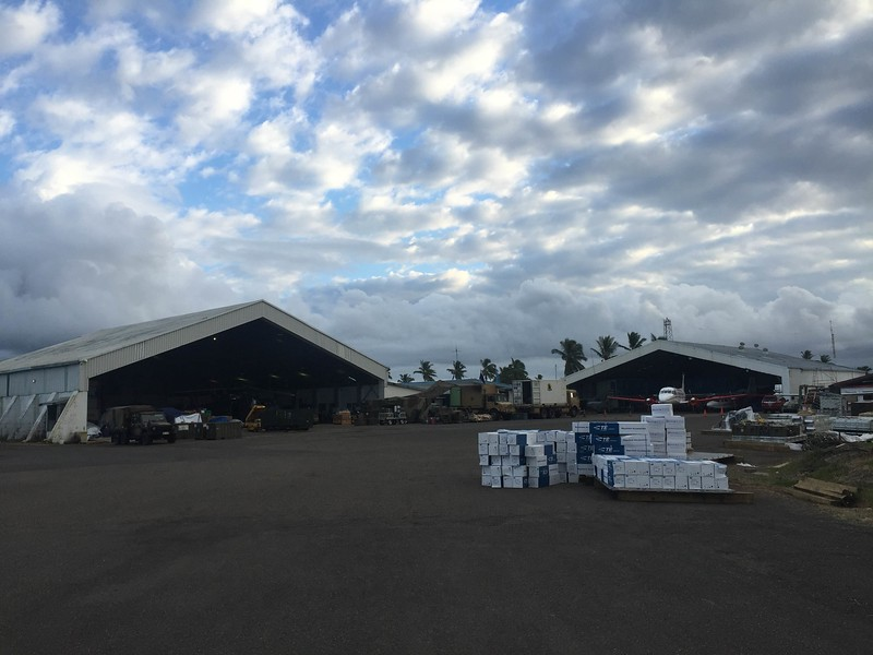 Nausori hangar used as NZDF/ADF logistics centre