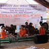 Traditional performance by school children for the opening of the Tim McKay Memorial School, Bandung Regency, West Java Province.