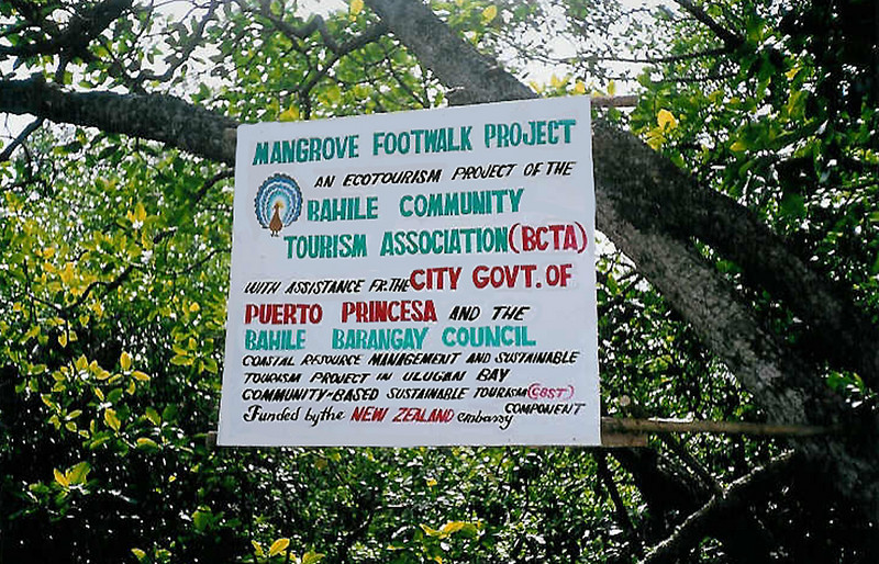 Mangrove Footwalk Project in Ulugan Bay - Ecotourism project of the Bahile Community Tourism Association, Philippines. Credit: New Zealand Ministry of Foreign Affairs and Trade