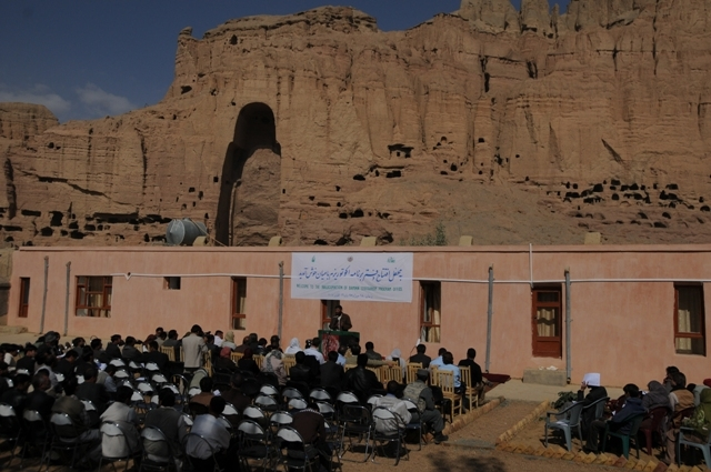 Governor Sarabi opens the Bamyan Ecotourism Programme Office, in Bamyan, Afghanistan. Credit: New Zealand Ministry of Foreign Affairs and Trade