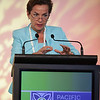 Christiana Figueres, Executive Secretary for the United Nations Framework Convention on Climate Change speaks at the Pacific Energy Summit 2013. Credit Brendon O'Hagan