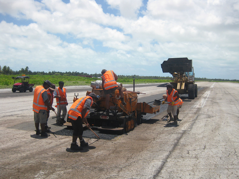 New Zealand Aid Programme funded redevelopment of Cassidy Airport runway.  The rehabilitation of the runway on Kiritimati Island is a vital step towards reviving the tourism industry, providing an international air connection for the Line Islands group, and helping Kiribati overcome the major development challenges it currently faces. Kiribati, 2011.  Credit: New Zealand Ministry of Foreign Affairs and Trade.