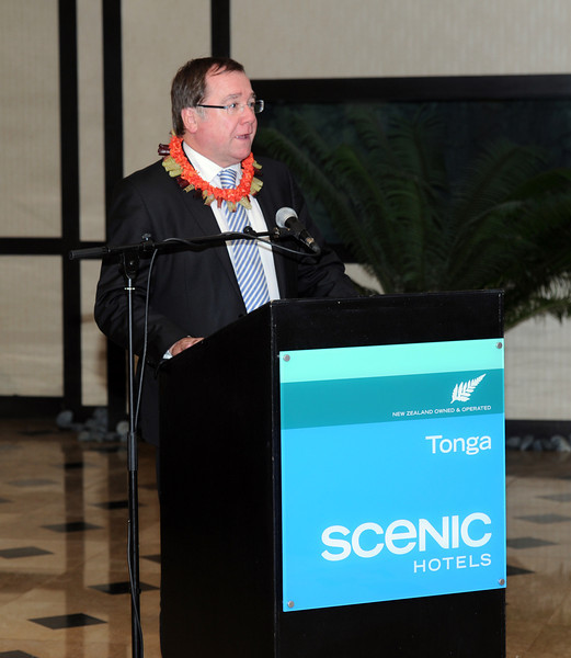 Minister of Foreign Affairs Minister, Murray McCully, at the opening of the Tonga Scenic Hotel, Pacific Mission 2012, Nuku'alofa, Tonga, Tuesday, July 24, 2012. Credit:SNPA / Ross Setford