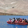 Boat trip at the Band-e Amir lakes in Bamiyan, Afghanistan. Credit: Aga Khan Foundation