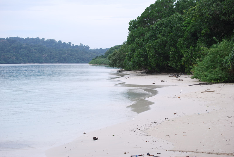 Pristine beach in Ujung Kulon National Park, April 2011.<br /> <br /> Photo by Hannah Taylor