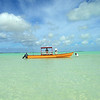 Tourist fishing boat, Christmas Island (Kiritimati), 2010. Credit: Ross Setford / NZPA