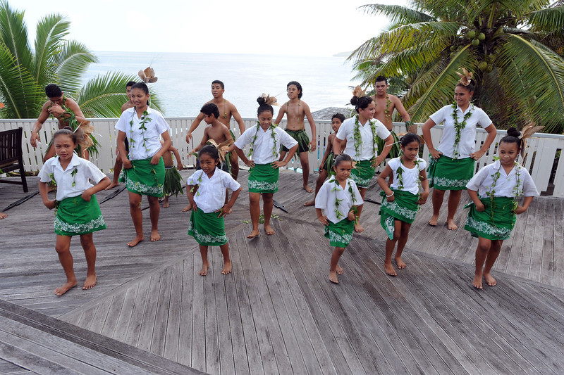 Cultural entertainment at the Matavai Resort, Niue. Photo: SNPA / Ross Setford