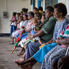 Patients waiting to see the visiting eye team at Kirakira Hospital, Solomon Islands. Credit: Kristian Frires, Fred Hollows