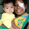 Mother and her baby - Patient who has seen the visiting eye team at Kirakira Hospital, Solomon Islands. Credit: Kristian Frires, Fred Hollows