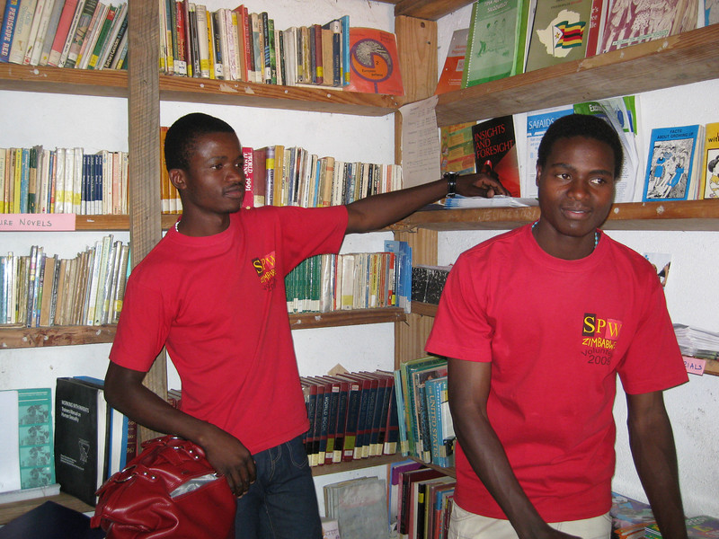 Young men in the SPW (Restless Development) resource room, Zimbabwe. Credit: New Zealand Ministry of Foreign Affairs and Trade