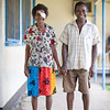 Elderly patients who have seen the visiting eye team at Kirakira Hospital, Solomon Islands. Credit Kristian Frires, Fred Hollows