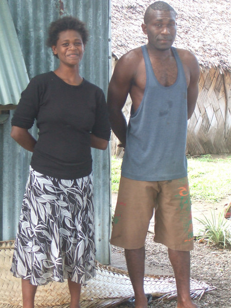 Palm project funded by the New Zealand Aid Programme KOHA fund - Rolini (Palm project manager) and Prosio (soap maker). Credit: Palm Project and NZCHET (New Zealand Children's Health Education Trust)