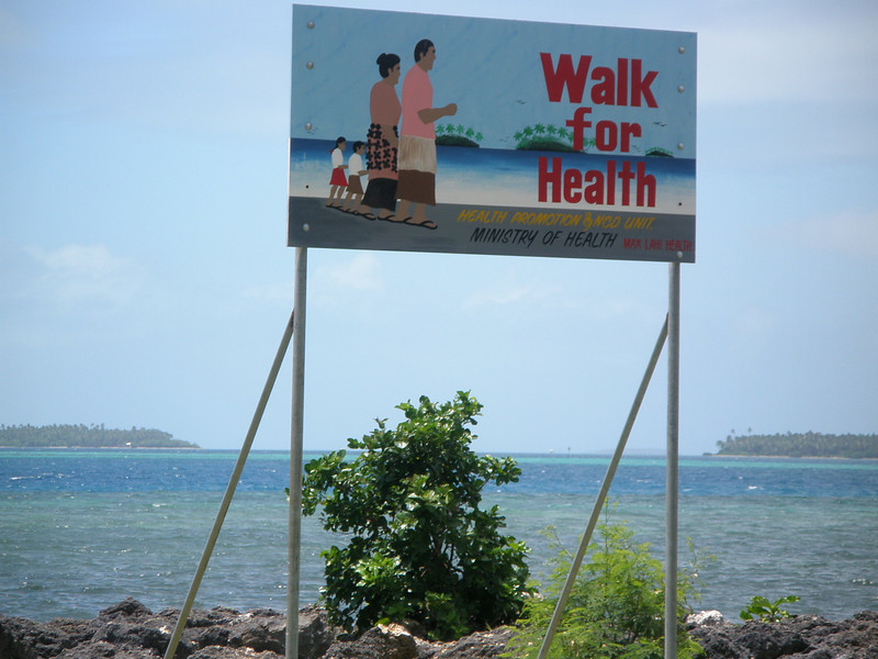 Health billboard in Tonga. Credit: New Zealand Ministry of Foreign Affairs and Trade