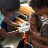 Child check-ups at Mutzing District Hospital, Papua New Guinea. Credit: Steven Nowakowski