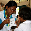 Vision measurement. Credit: A Palagyi, Fred Hollows Foundation