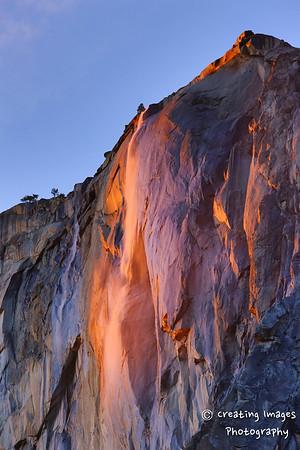 """Enchanted Light""  Horsetail Falls"