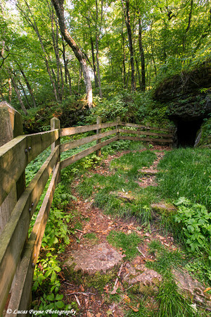Ice Cave at Bixby State Preserve near Edgewood in Northeast Iowa<br /> <br /> July 11, 2012
