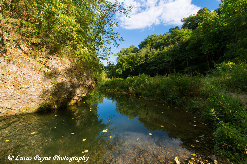 View of Bear Creek at Bixby State Preserve near Edgewood in Northeast Iowa<br /> <br /> July 11, 2012