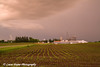 Edgewood, Iowa and a passing storm.