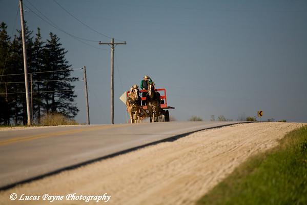 Amish in Iowa.<br /> October 4, 2008
