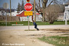 Amish boy running near Hazelton, Iowa.<br /> April 08, 2010