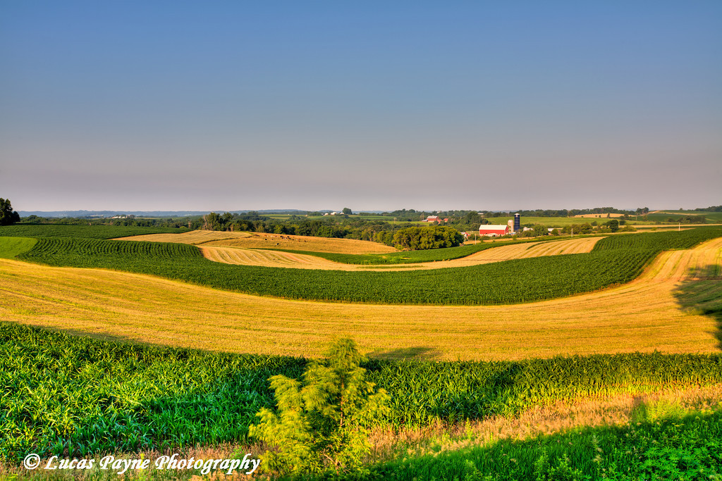 Rolling hills and farm land in Northeast Iowa.<br /> June 30, 2011<br /> HDR