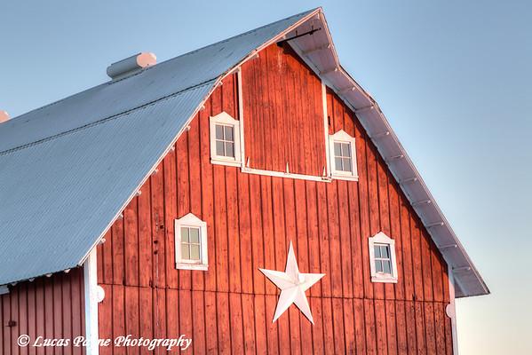 Red barn on a farm near Edgewood in Northeast Iowa<br /> <br /> December 21, 2012