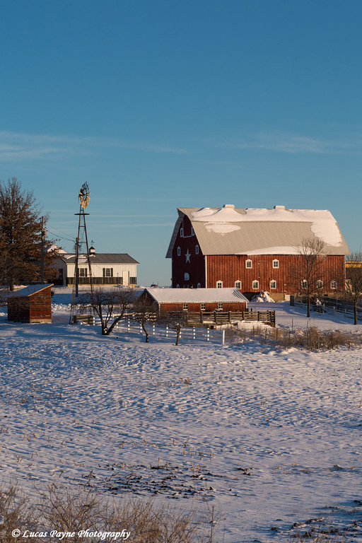 Fresh snow on a farm near Edgewood in Northeast Iowa<br /> <br /> December 27, 2012