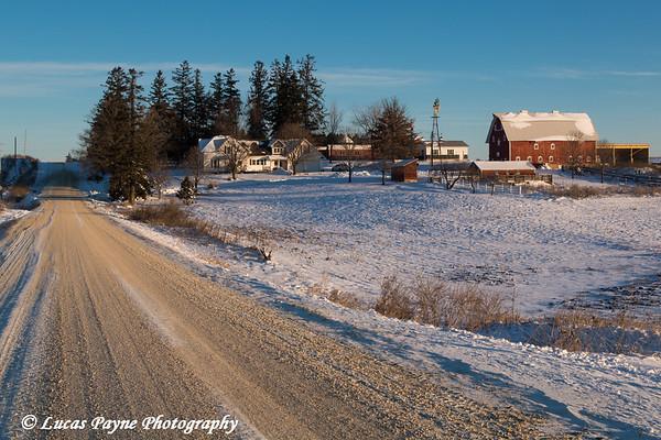 Fresh snow on a farm near Edgewood in Northeast Iowa<br /> <br /> December 27, 2012