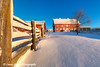 Red barn with fresh snow on a farm near Edgewood in Northeast Iowa<br /> <br /> December 21, 2012