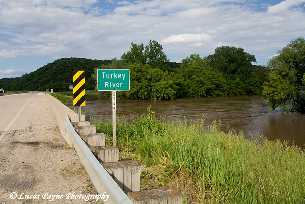 Highway 13 bridge over the Turkey River in Elkader, Iowa.