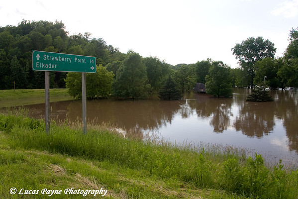 Turkey River flood water in Elkader.