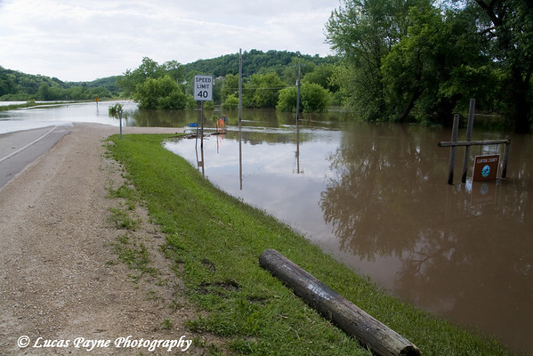 Turkey River flood water in Elkader, Iowa.